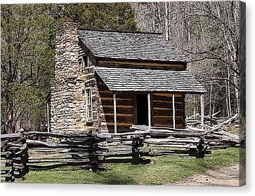 Cades Cove Old Cabin Art01 Canvas Print by Donald Williams
