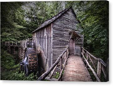 Cades Cove Rustic Cable Mill  Canvas Print by Thomas Schoeller
