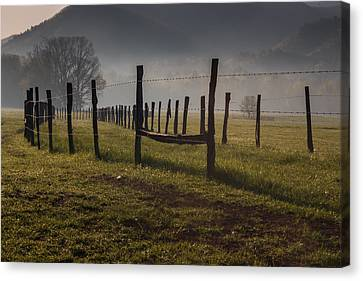 Canvas Print featuring the photograph Cades Cove Sunrise by Jay Stockhaus