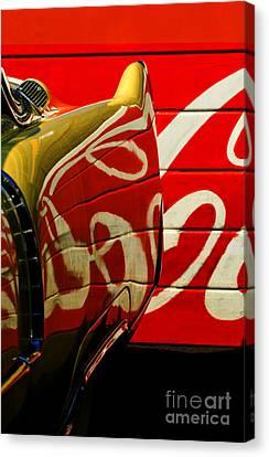 Cadillac And Coke Canvas Print