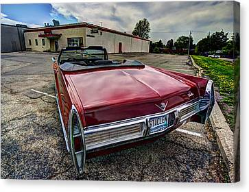 Cadillac Convertible Canvas Print by Amanda Stadther