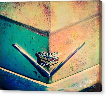 Turquoise And Rust Canvas Print - Cadillac In The Sun by Sonja Quintero