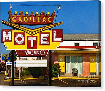 Cadillac Motel 20130307 Canvas Print by Wingsdomain Art and Photography