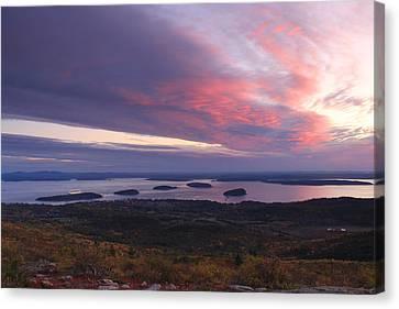 Cadillac Mountain Autumn Sunrise Acadia National Park Canvas Print