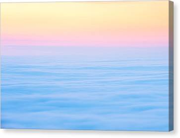 Canvas Print featuring the photograph Cadillac Mountain In Pastels by Bernard Chen