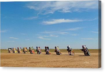 Amarillo Texas Canvas Print - Cadillac Ranch by Gordon Beck