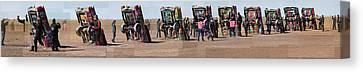 Cadillac Ranch Horizon Canvas Print