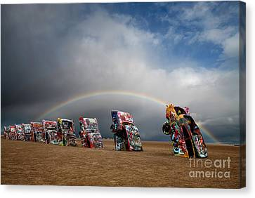 Cadillac Ranch Canvas Print by Keith Kapple