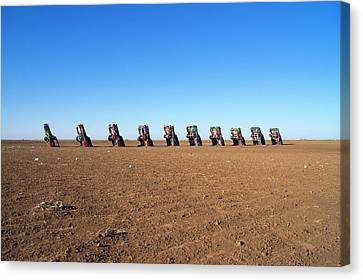 Cadillac Ranch. Canvas Print by Mark Williamson