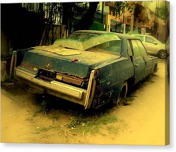 Cadillac Wreck Canvas Print by Salman Ravish
