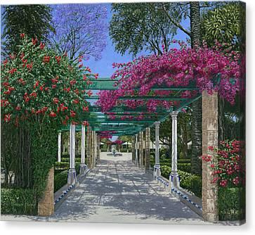 Cadiz Garden Canvas Print