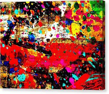 Cadmium Abstract Canvas Print