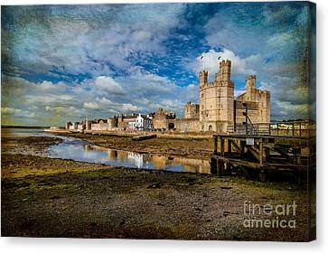 Caernarfon Castle Canvas Print by Adrian Evans