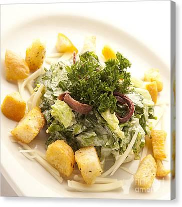 Caesar Salad Canvas Print by New  Orleans Food