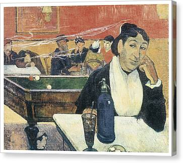 Cafe At Arles Canvas Print by Paul Guaguin