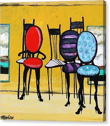 Cafe Chairs Canvas Print by Karon Melillo DeVega