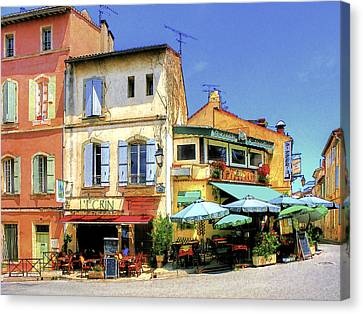Cafe Corner Canvas Print by Douglas J Fisher