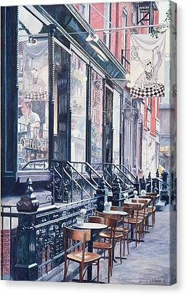 Cafe Della Pace East 7th Street New York City Canvas Print by Anthony Butera