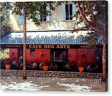 Cafe Des Arts   Canvas Print by Michael Swanson