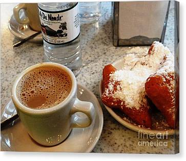 Canvas Print featuring the painting Cafe Du Monde Afternoon by Ecinja Art Works