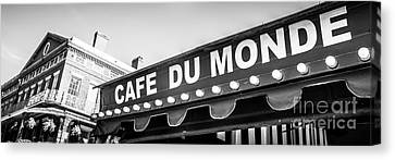Cafe Du Monde Panoramic Picture Canvas Print by Paul Velgos