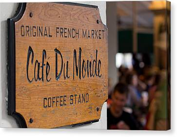 Cafe Du Monde Sign Canvas Print