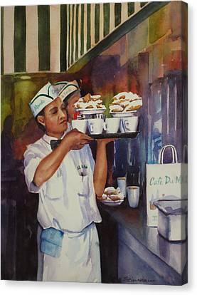 Cafe Du Monde Canvas Print by Sue Zimmermann