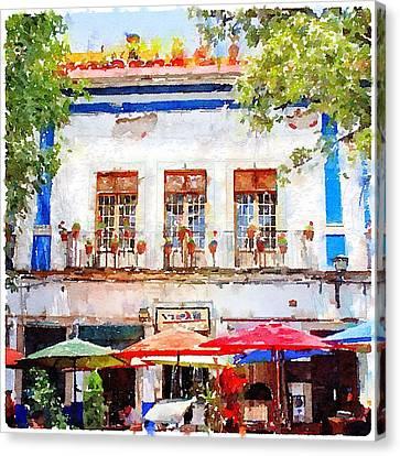 Cafe En Guanajuato Canvas Print by Matthew Green