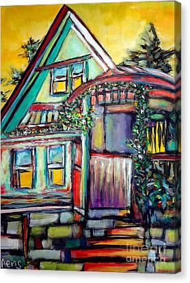 Cafe In Revelsoke Bc Canada Canvas Print by Aeris Osborne