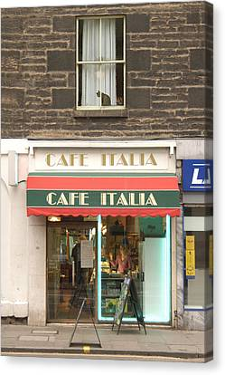 Cafe Italia Canvas Print by Mike McGlothlen