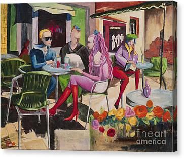 Cafe Marseille Canvas Print by Elisabeta Hermann