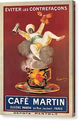 Cafe Martin 1921 Canvas Print by Leonetto Cappiello