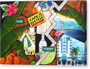 Cafe Miami Canvas Print