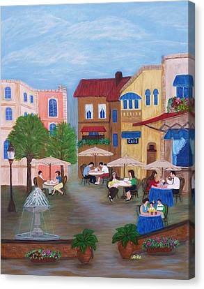 Cafe' Moments Canvas Print by Anke Wheeler