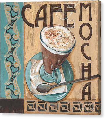 Cafe Nouveau 1 Canvas Print by Debbie DeWitt