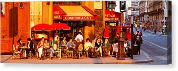 Cafe, Paris, France Canvas Print by Panoramic Images