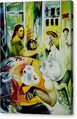 Cafe Salome Canvas Print by Nekoda  Singer