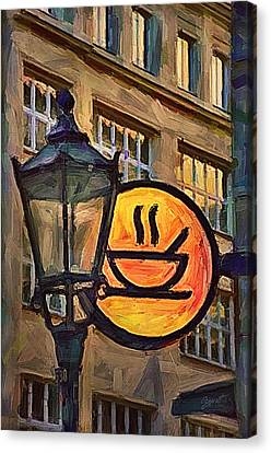Cafe Sign Canvas Print by Gynt