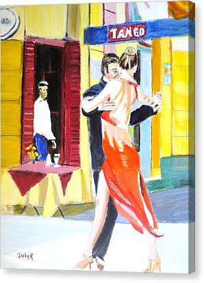 Cafe Tango Canvas Print by Judy Kay