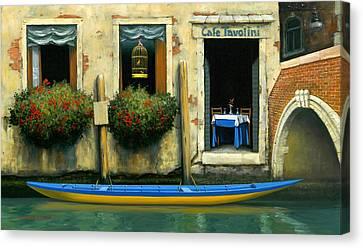 Cafe Tavolini Canvas Print by Michael Swanson