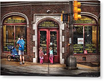 Cafe - The Italian Bakery Canvas Print by Mike Savad
