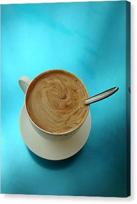 Caffe Americano Canvas Print by Anna Villarreal Garbis