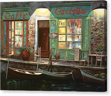 caffe Carlotta Canvas Print by Guido Borelli