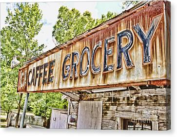 Caffee Grocery Canvas Print by Scott Pellegrin