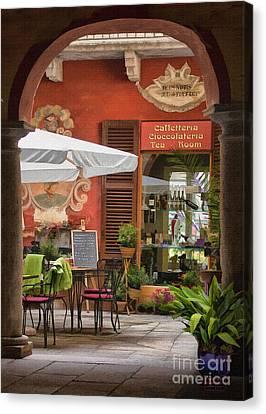 Caffeteria Orta San Guilio Canvas Print