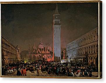 Caffi Ippolito, Venice. Carnival Night Canvas Print