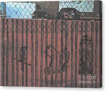 Caged Animals Canvas Print by David Heid