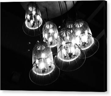 Caged Lights Canvas Print by Justin Woodhouse