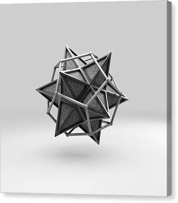 Cryptic Canvas Print - Caged Stellated Dodecahedron by Par Thorbjornsson