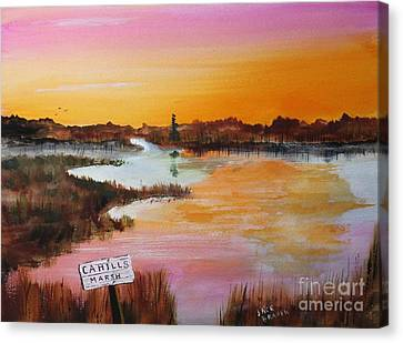 Jack Brauer Canvas Print - Cahills Marsh by Jack G  Brauer
